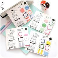24pcs/lot Cute Kawaii Notepad Memo Pads Cute Cartoon N Times Mini post Sticker Office School Supplies Stationery Gift 01906