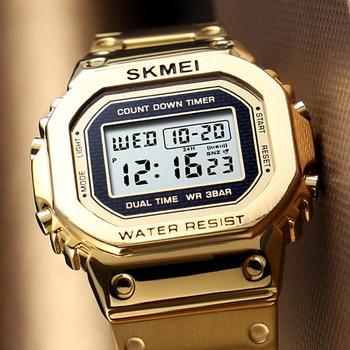 790b2ef6399d Relojes deportivos para hombres famosos G shock cronógrafo a prueba de agua  cuenta regresiva reloj Digital marca superior SKMEI reloj despertador para  ...