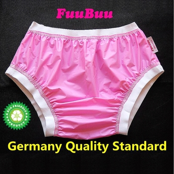 Free Shipping FUUBUU2207-Pink-XXL-1PCS ABDL Wide elastic pants adult diapers non disposable diaper plastic diaper pants