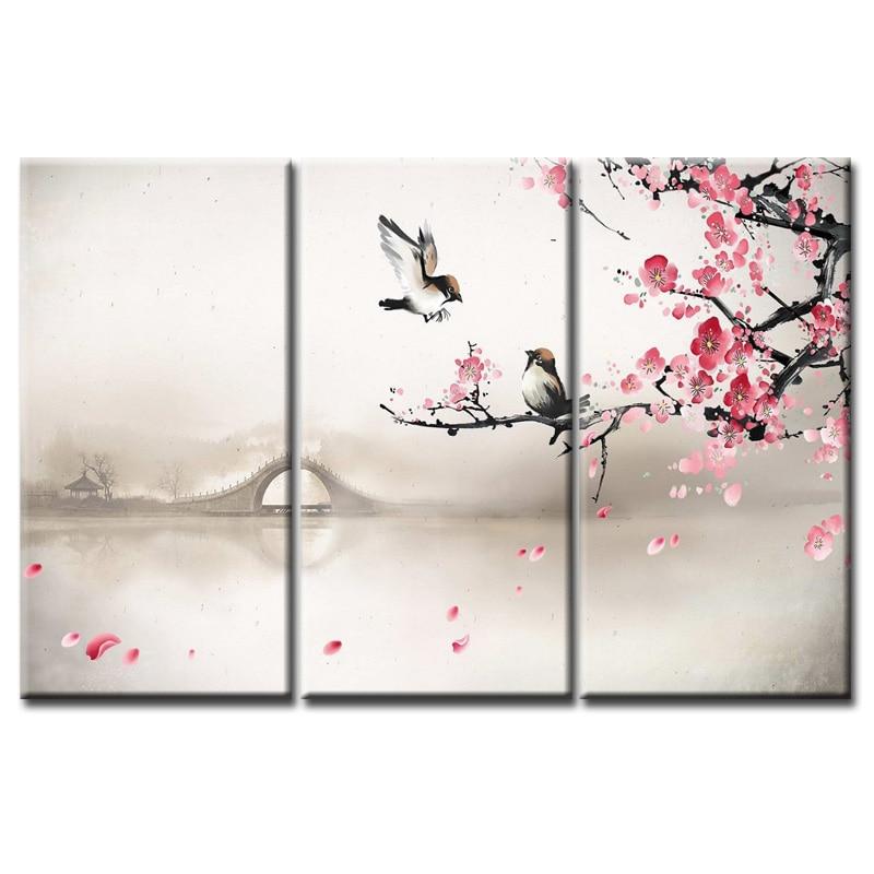 Wholesale Birds And Flowers Printings Paintings Wall Art