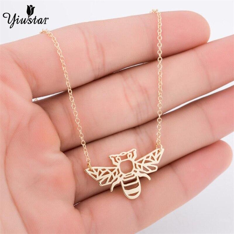 Yiustar оригами пчела ожерелье Жук Шарм женский и мужской подарок животное ожерелье медовая пчела кулон жук Ожерелье & Кулоны подарок для вечеринки
