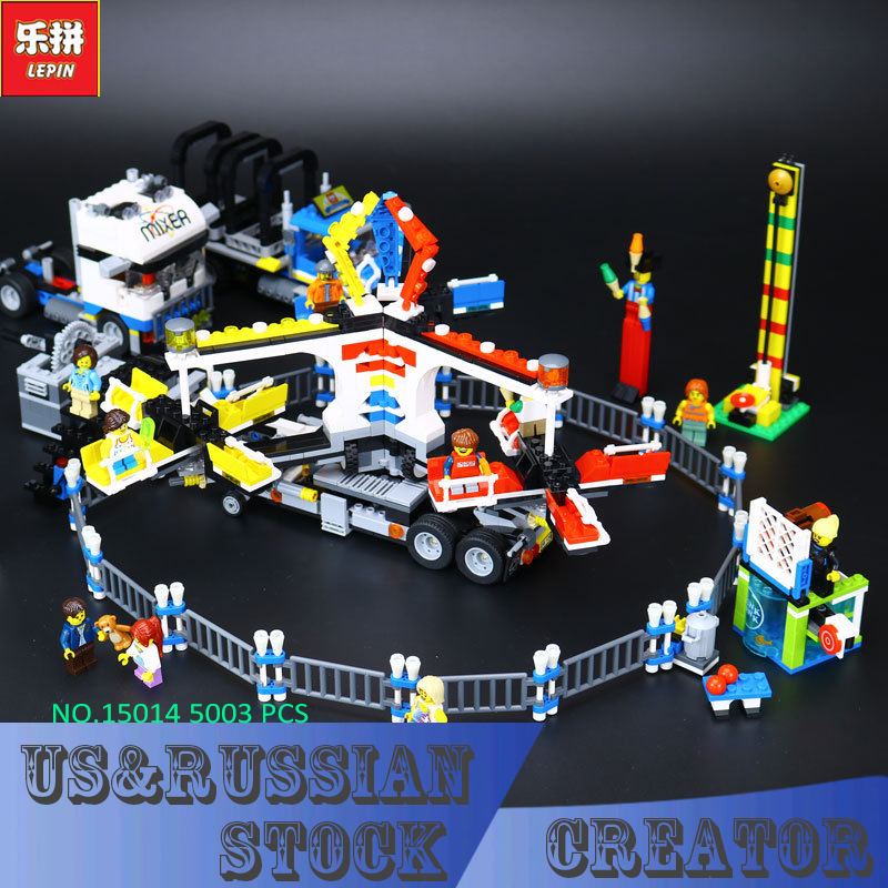 New LEPIN 15014 1858Pcs Amusement park The carnival Model Building Blocks Set Compatible CREATOR 10244 Architecture toys gifts 2016 new lepin 15006 2354pcs creator palace cinema model building blocks set bricks toys compatible 10232 brickgift