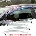 4 pçs/lote Para Ford Fiesta Hatchback 2013 2014 2015 Janela Do Carro Da Viseira Sun Chuva Escudo de Cobre Exterior Decoração Auto Acessórios