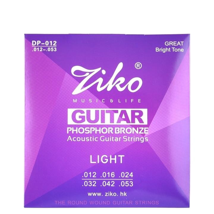 Ziko 010 011 012 partes de guitarra de cuerdas de guitarra acústica instrumentos