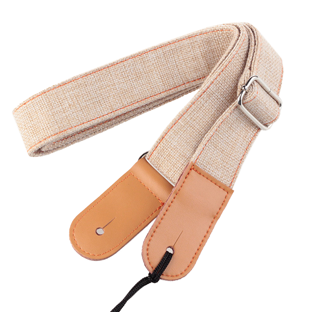 Shoulder Soft Buckles Cotton And Linen Adjustable Ukulele Strap Solid Guitar Part Anti Pull Retro Portable Durable Belt
