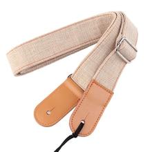 Shoulder Soft Buckles Cotton And Linen Adjustable Ukulele Strap Solid Guitar Part Anti Pull Retro Portable Durable Belt