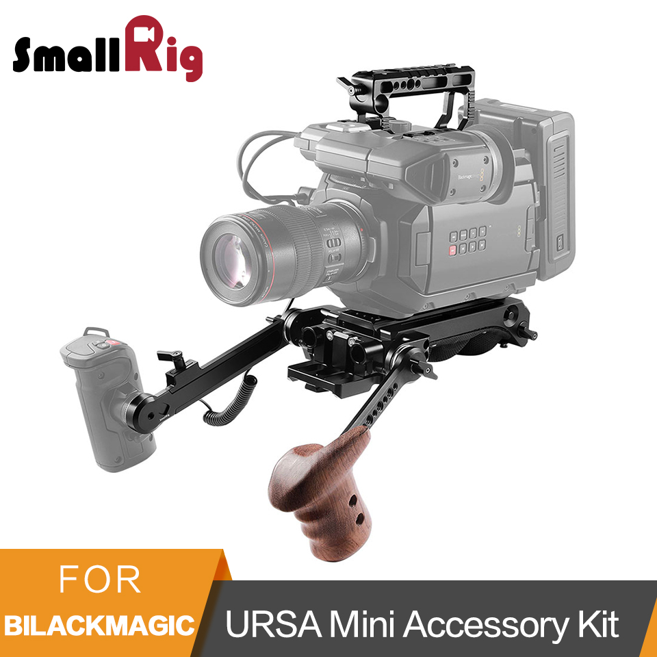 SmallRig Advanced Accessory Kit With Top Handle and Shoulder Plate Extension Arm System for Blackmagic URSA Mini/ Mini Pro-2030 zoomer ruckus fi nps50 black engine frame extend extension kit with handle post