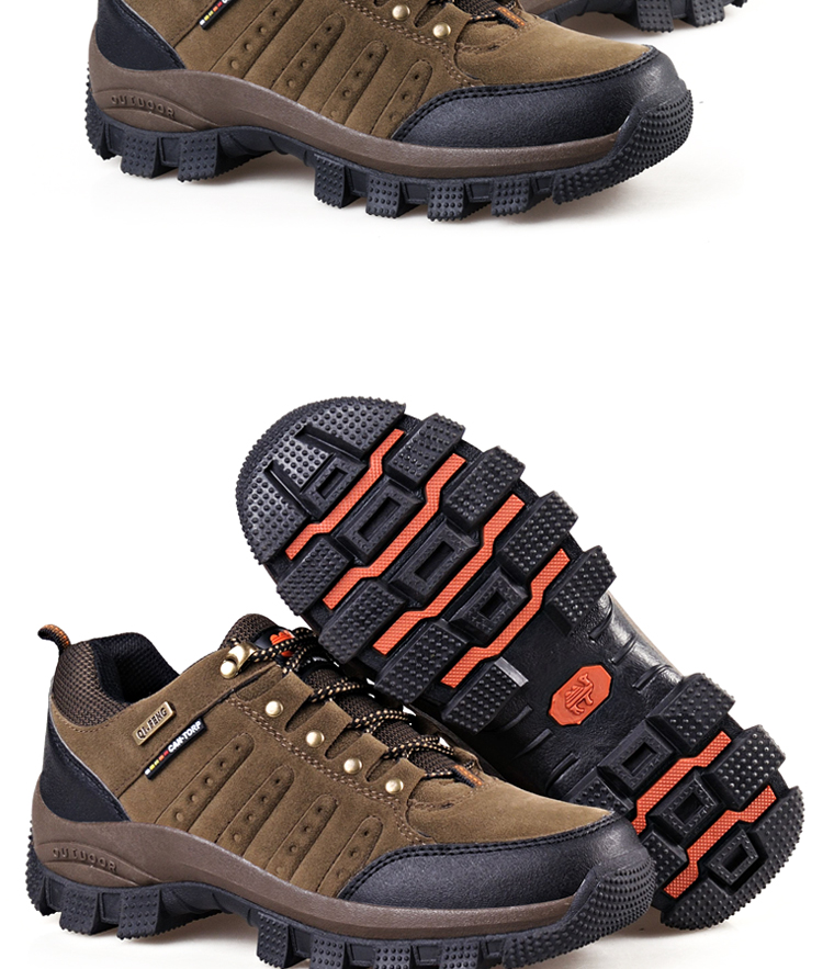 Hot Popular Men Women Outdoor Hiking Boots, Couples Mountain Climbing shoes,High Quality Sports Trekking Footwear, Work Shoes