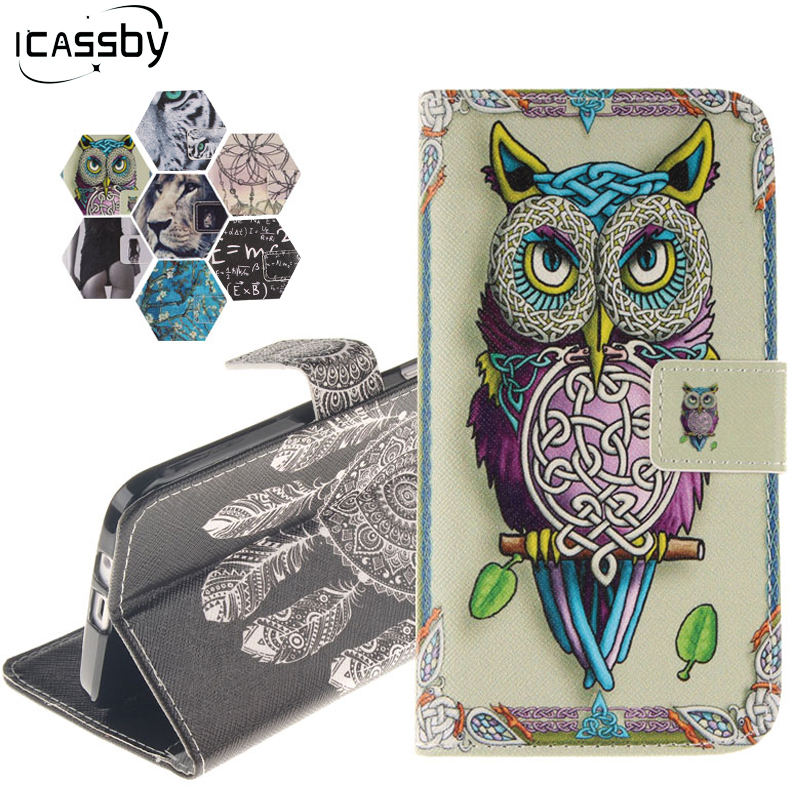 Case for Huawei P Smart Cover PU Leather Case For Huawei P Smart Etui Flip Phone Cover For Huawei Enjoy 7S / P Smart Case Coque