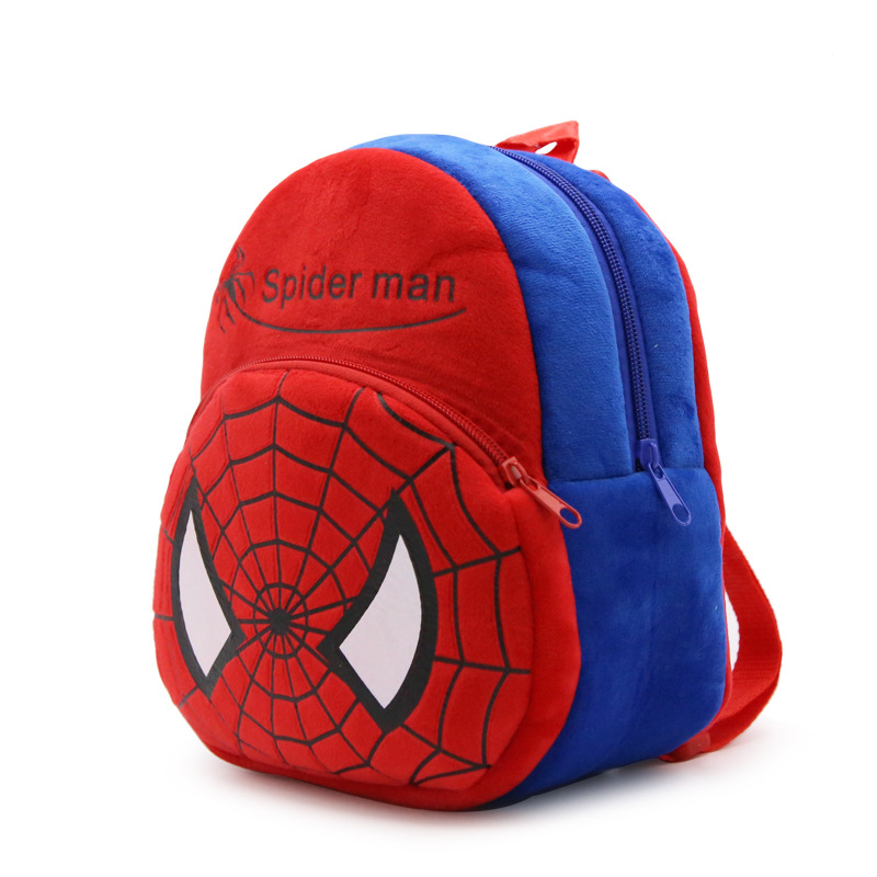 Cotton Stuffed Spider Man 0 8Y Baby Plush Backpacks High Quality Toddler School Shoulder Bags Kids