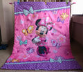Bedding product girl baby quilt cartoon Butterflies and Minnie Children quilt blanket