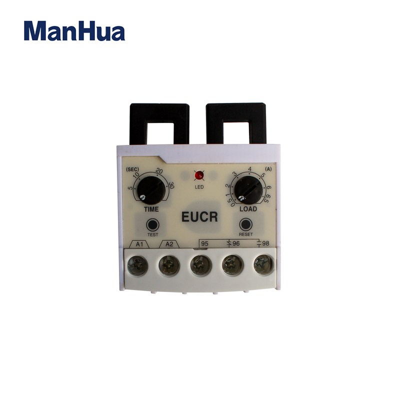 ManHua EUCR-05N 0 5-5A Electronic Overload Relay Phase Automatic Adjustment  Protection And Conversion Circuit Relay