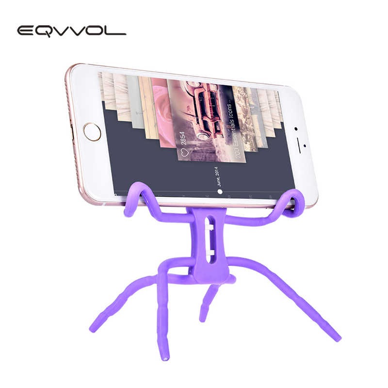 Eqvvol Spider Mobile Phone Holder Universal Stent For iPhone For Samsung Holder Stand Support Cell Phone Holder For Huawei