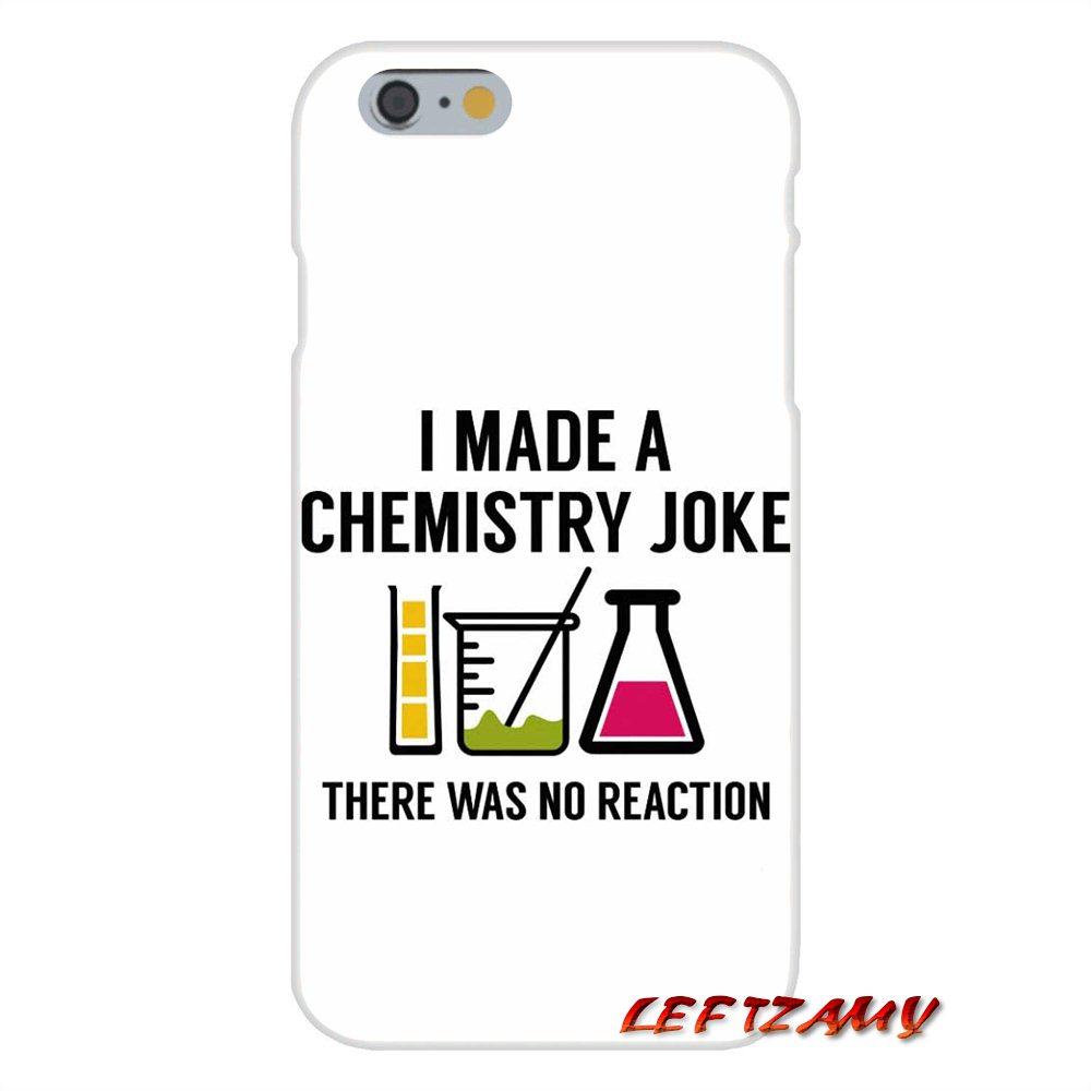 US $0 99 |I Made A Chemistry Joke Art Slim Silicone phone Case For iPhone X  4 4S 5 5S 5C SE 6 6S 7 8 Plus-in Half-wrapped Case from Cellphones &