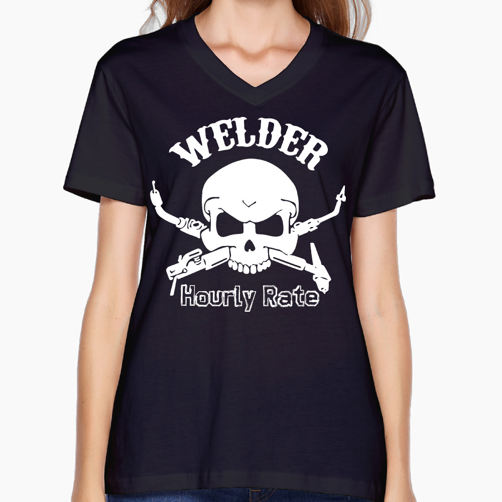 Shirt design rates - 2017 Lasser Uurtarief Rate Printing Vrouwen V Hals T Shirt Cool Comic Ontwerp Zomer Dans