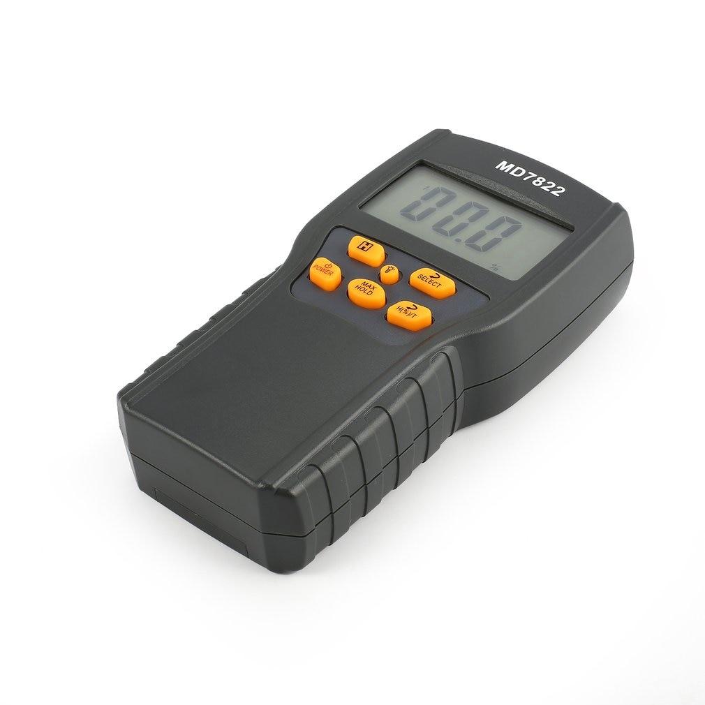 MD7822 Digital Grain Moisture Meter Temperature Meters Tester Measuring Probe Wheat Corn Rice Moisture Test Meter W/ LCD