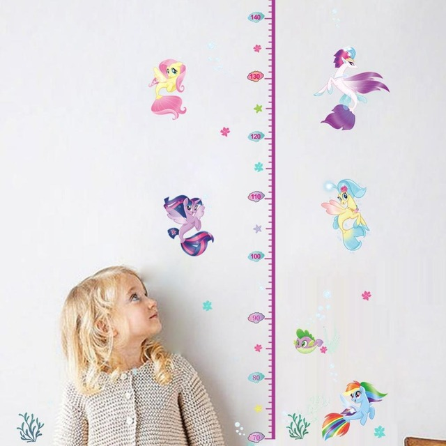 180cm Baby Height Measure Pony Wall Stickers My Little Horse Anime