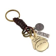 Accessories SteamPunk Keychain Fashion Alloy Totoro Key Holder Vintage Leather Key Chain For Men Women Car Styling Keychain
