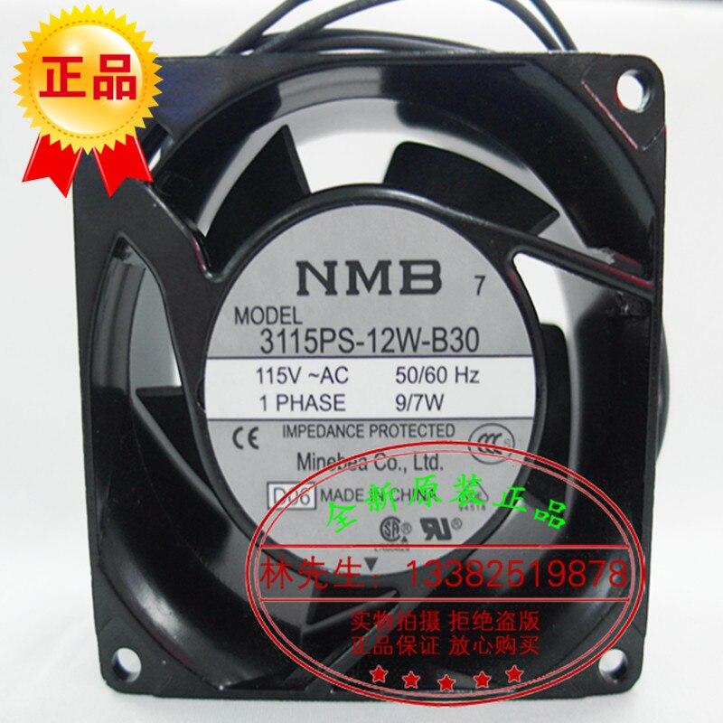 ФОТО New Original NMB 3115PS-12W-B30 AC115V 9/7W 80*80*38MM 8CM axial flow cooling fan