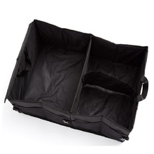 Black Oxford Fabric Multipurpose Folding Car Organizer Trunk Organizer Cargo Storage Container For Travelling Camping
