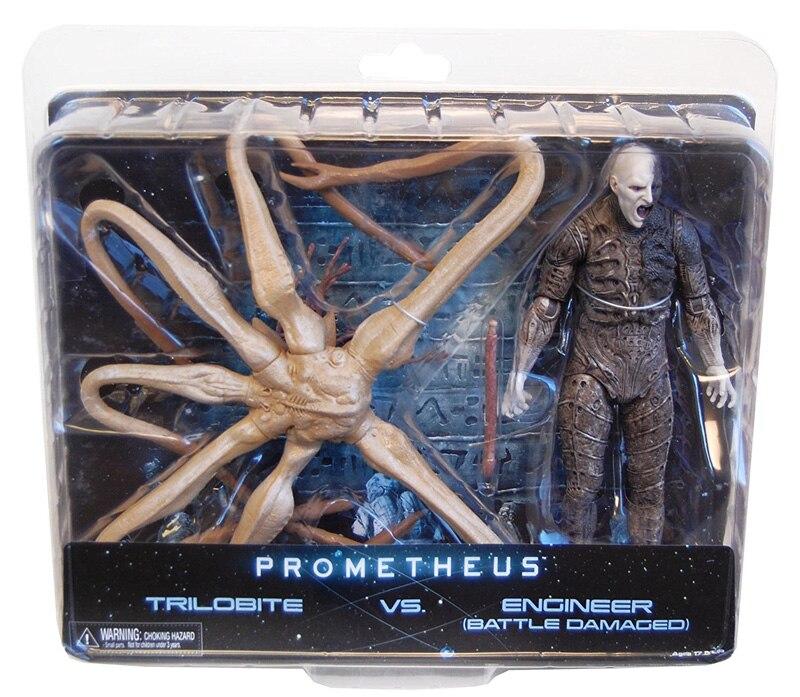 Offre spéciale Collection originale Trilobite VS ingénieur bataille endommagé NECA Prometheus exclusif 2-Pack 9