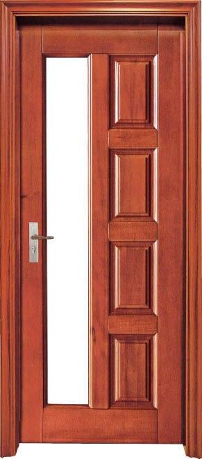2015 Hot Sale Luxurious Red Oak Interior Solid Wood Door Wooden Hotel Door  Interior Security Door