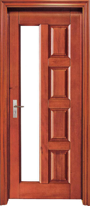 2015 Hot Sale Luxurious Red Oak Interior Solid Wood Door Wooden Hotel Door Interior Security
