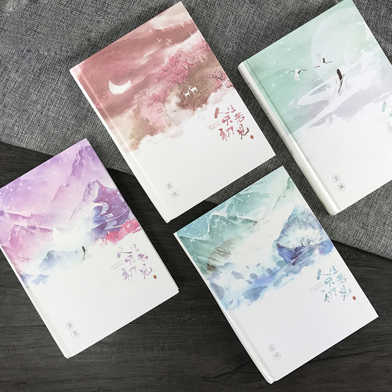 Señorita Ben antigüedad serie estética diario libreta luminoso Tapa dura horizontal Grid páginas interiores 1 unids
