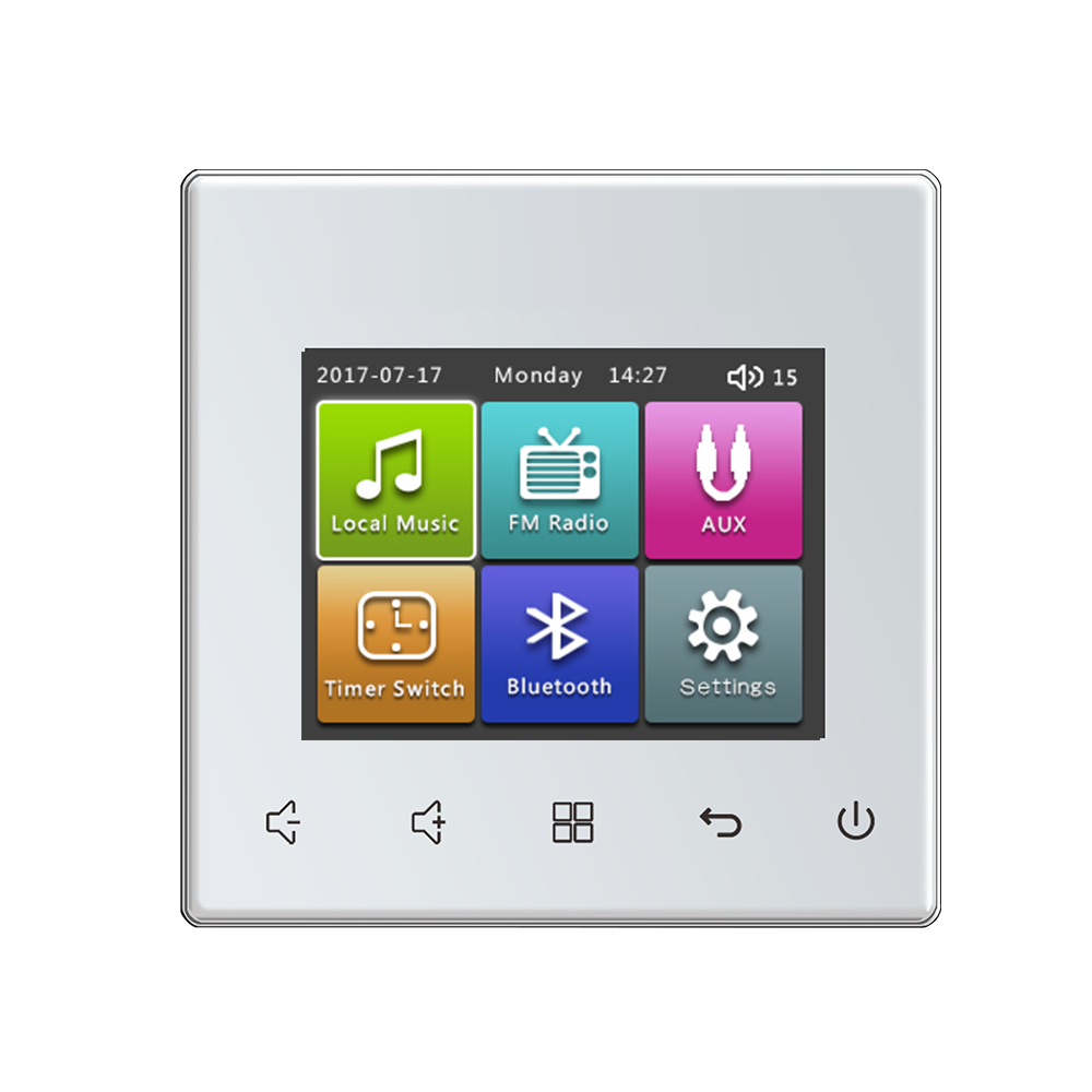 New 86 Style Touch Screen Home Office Hotel Audio Visual In Wall Integrated Digital Stereo Amplifiers Controller