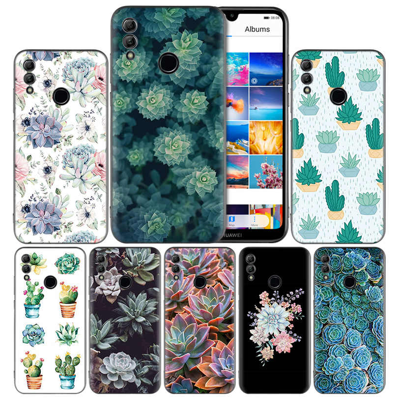 Beautiful Succulent plants Silicone Case Cover for Huawei Honor 8X 8C 8A 8S 10 10i 20i 20 Play Y9 Y7 Y6 Y5 Lite Pro 2018 2019