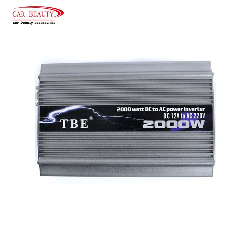2019 TBE 2000W Power Inverter 24V DC 220V Modified Sine Wave USB Car Charger Solar Auto