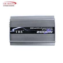 TBE 2000 Вт Инвертор 24 В постоянного тока 220 В модифицированный синусоидальный USB Автомобильное зарядное устройство солнечный авто Инвертор адаптер