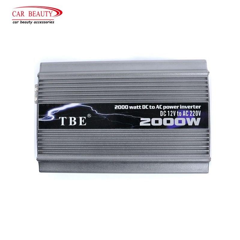2019 TBE 2000 Вт Инвертор 24 В постоянного тока 220 В модифицированный синусоидальный USB Автомобильное зарядное устройство солнечный авто Инвертор адаптер Бесплатная доставка