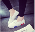 Spring autumn 2017 Women Fashion Elastic Band  Woman Flat Casual Shoe Canvas Leisure espadrilles slipony student shoes