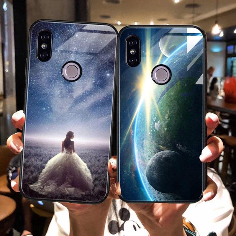 Luxury-Glass-Case-For-Xiaomi-Redmi-Note-6-5-Pro-4X-6-Pro-Case-For-Xiaomi-Mi-A2-Lite-Star-Space-Case-Silicone-Coque-Artisome-(13)