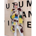 Real Raccoon Fur Coat Knitted Women Winter 2016 Natural Raccoon Fur Coat Luxury Genuine Fur Coats Jackets Female Long Outwear
