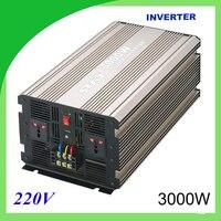 3000 Вт Чистая синусоида Солнечной Инвертер DC 12 В 24 В к AC 110 В 220 В цифровой