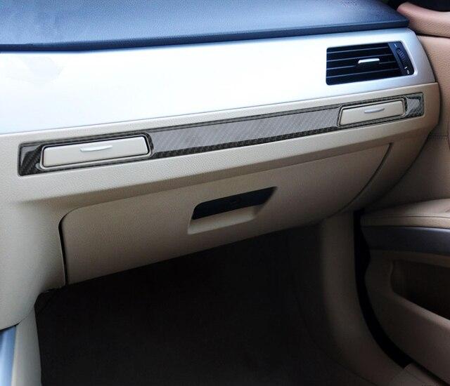 co pilote eau porte gobelets de voiture garniture bande pour bmw s rie 3 e90 en fiber de carbone. Black Bedroom Furniture Sets. Home Design Ideas
