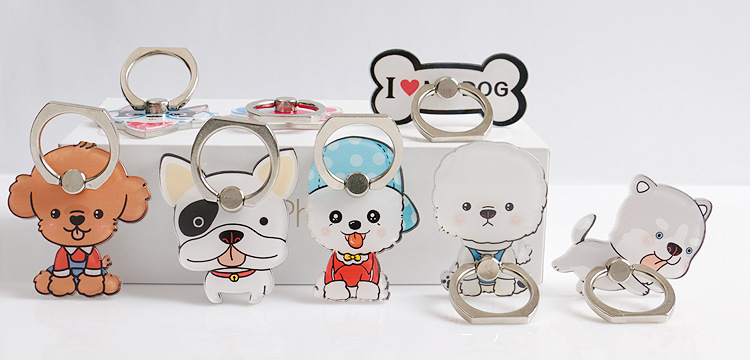 Detail Feedback Questions about Hot 360 Degree Universal Metal cute mobile  phone holder Stand Ring Lovely Dog Cartoon Puppy Smartphone phone Ring  Holder on ... 8943453d9948
