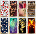 Hot Selling Colorful Flower Rose Butterly PC Phone Case Sleeve For Samsung Galaxy A3 A3000 A300 A300F Phone Cases Covers Shell