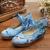 Bordado de la vendimia de las mujeres bombas crane 5 cm cuñas de talón ata para arriba los zapatos de lona ocasionales de las señoras florales zapatos de mujer talla 34-41