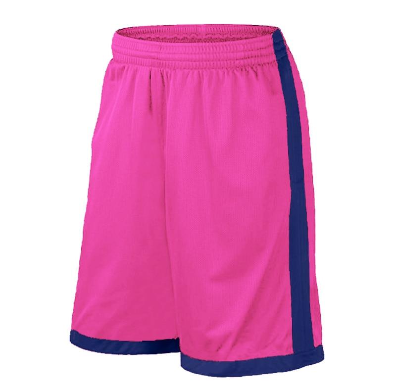 Баскетбольные шорты размера плюс, мужские спортивные шорты, мужские быстросохнущие баскетбольные шорты с карманами, баскетбольная майка высокого качества - Цвет: Pink Blue