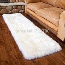 White Sheepskin Rug Fur Carpet Bed Real Fur Blanket Blankets For Beds Floor Carpets For Living Room