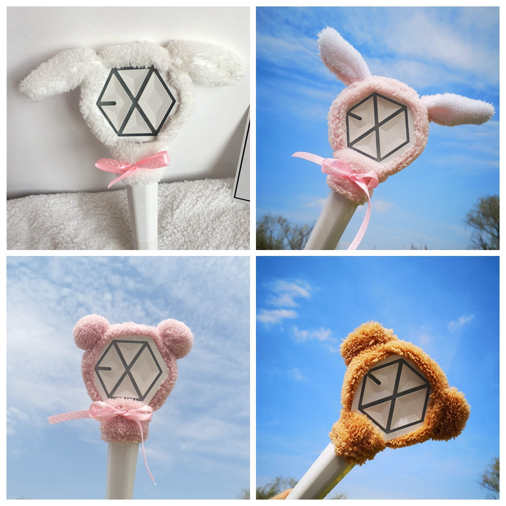 XINTOCH EXO Plush Toys EXOL Light Stick Cover Case Korea SEHUN CHANYEOL BAEKHYUN Cute Kawaii KPOP Gift For Kids Drop Shipping