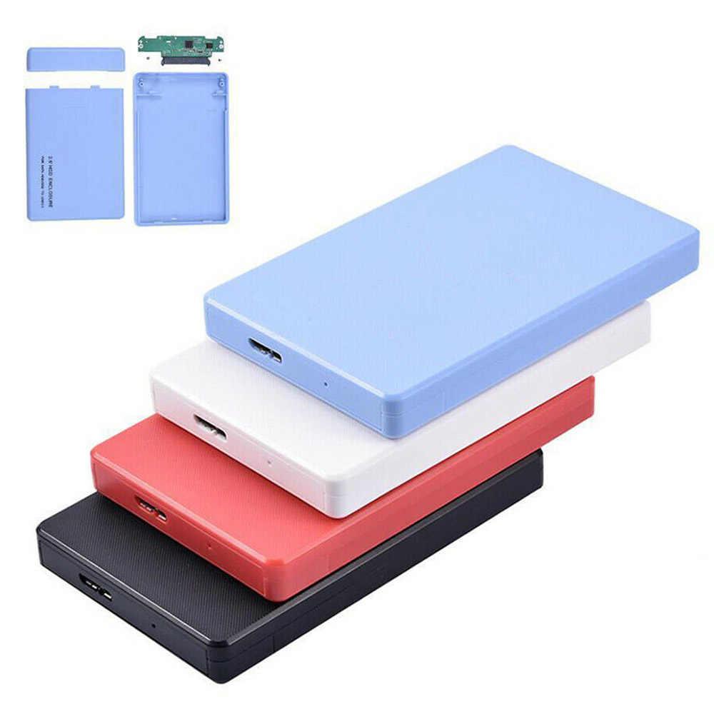 4 צבעים 2.5 אינץ USB 2.0 HD SATA 1 TB HDD כונן קשיח חיצוני מארז מקרה תמיכה עד 2 TB נתונים העברת גיבוי כלי