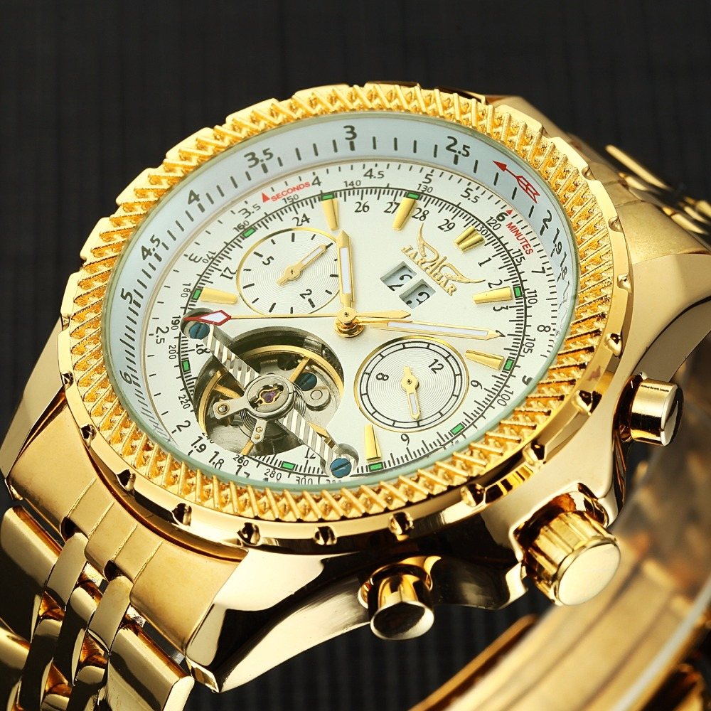 JARAGAR Brand Luxury Watch Mens Skeleton Automatic ...