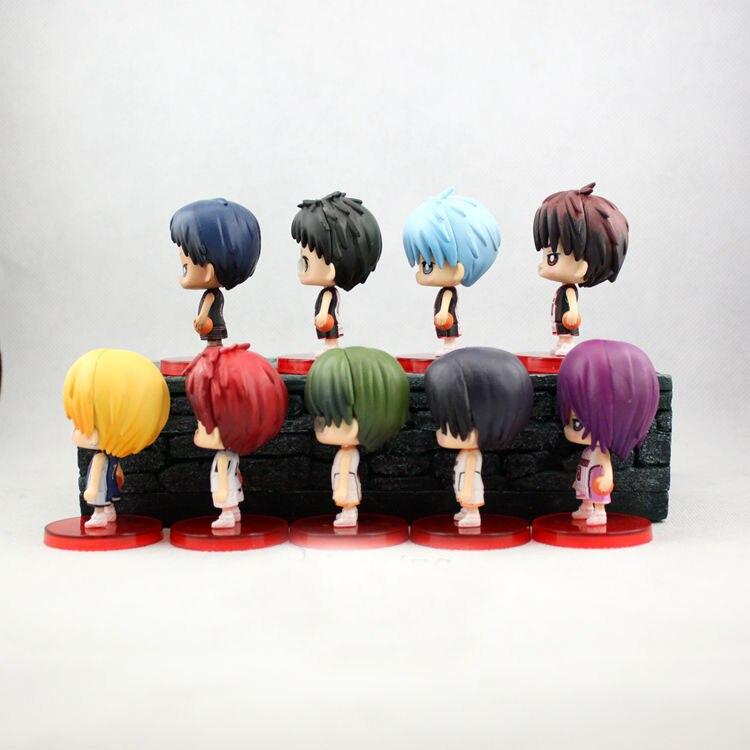 9pcs/set Kuroko no Basket Action Figures PVC Doll Toys 8cm 1