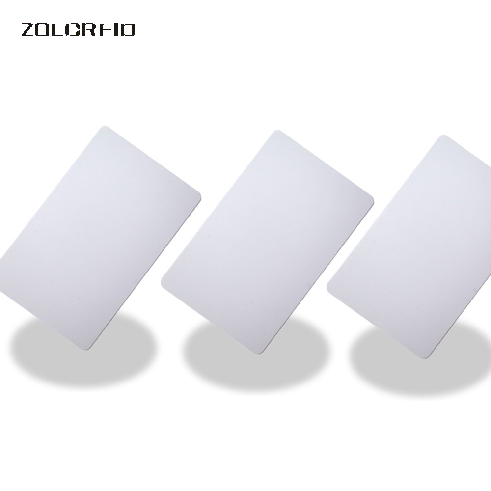 100pcsF1108 RFID 13.56Mhz (Compatible MFS50)  Re-writable Proximity Smart Card NFC Card 0.8mm Thin For Access Control System