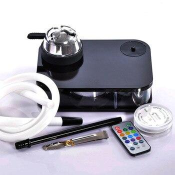 Acrylic Hookah Set,Hookah Shisha Narguile LED Light Charcoal Tigela Hookah Base Bowl Chicha Sisha cachimba accessories Gifts