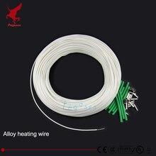 100 м Высокое качество сплава Отопление провода 5-230volt 1-3000ohm силиконовая резина отопление провод нагревательный кабель сохранения тепла антифриз
